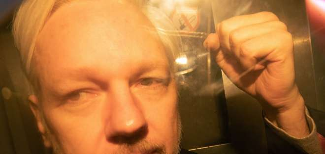 Assange, de 47 años, cumple una sentencia de 50 semanas en Londres.  Foto: Archivo/AFP
