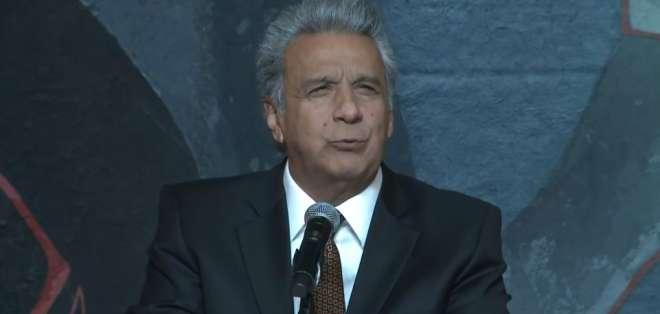 El presidente Moreno resaltó la independencia de las funciones del Estado. Foto: Captura