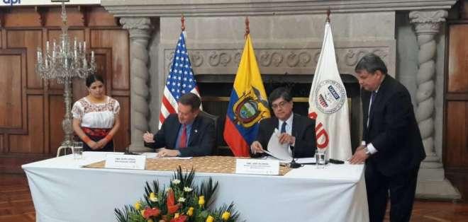 La primera cooperación económica para Ecuador por parte de USAID será de USD 30 millones. Foto: API