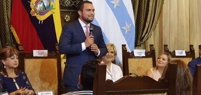 Josué Sánchez elegido vicealcalde en Guayaquil. Foto: @Johanna_Ramos