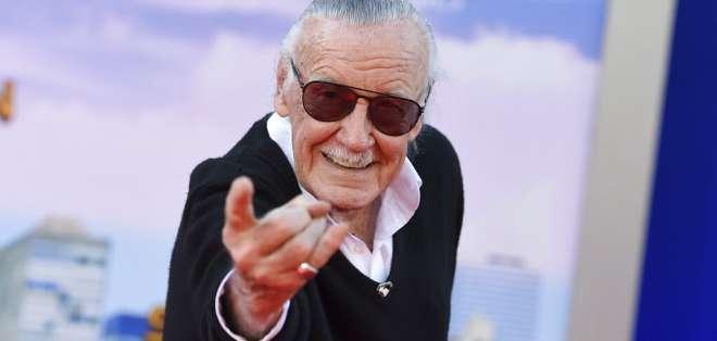 """Stan Lee en el estreno de """"Spider-Man: Homecoming"""" en Los Angeles. Foto: AP"""
