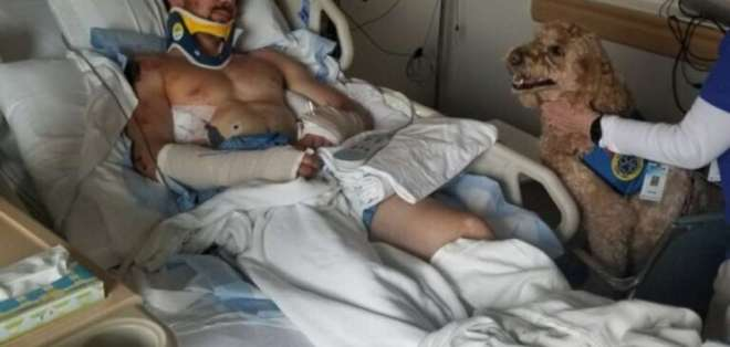 Kyle Walker, alpinista durante su recuperación en el hospital.
