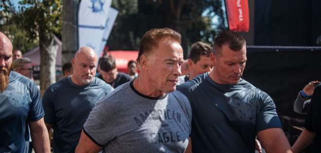INTERNACIONAL.- El actor y político austriaco-estadounidense participaba en un evento en Sudáfrica. Foto: AFP