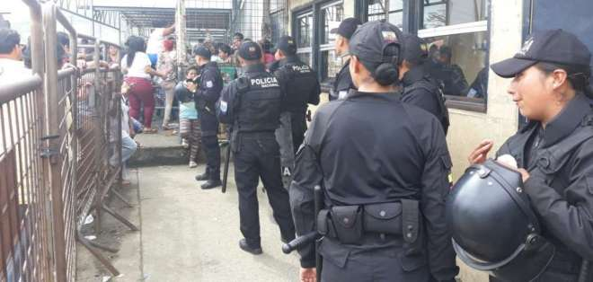 GUAYAQUIL, Ecuador.- El crimen ocurrió en Penitenciaría del Litoral, dos días después del estado de Excepción. Foto: Ecuavisa