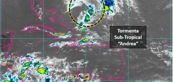 Surgió a cientos de kilómetros al suroeste de las Bermudas. Foto: Conagua
