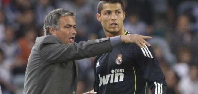 José Mourinho junto a Cristiano Ronaldo.