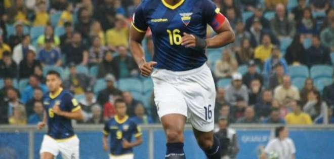 Antonio Valencia con la Selección Ecuatoriana.