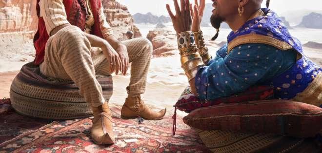 """""""Aladdin"""" ocupar el primer puesto en las taquillas. Foto: AP"""