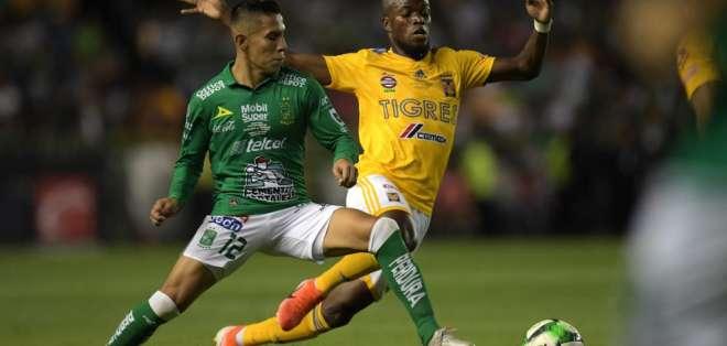 El último gol de Énner Valencia con Tigres fue en abril. Foto: Archivo