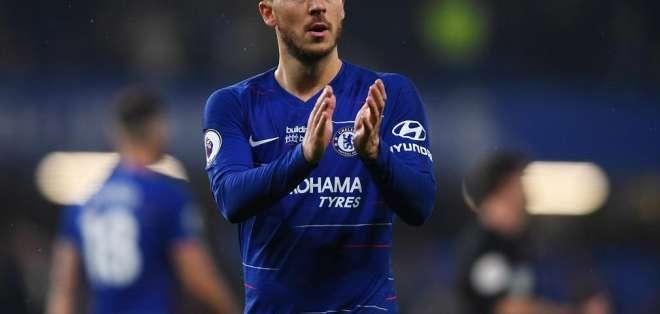 Hazard anotó dos anotaciones en la final de la Europa League ante el Arsenal.
