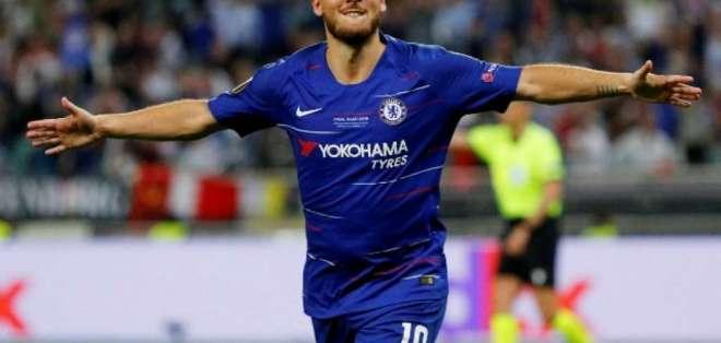 Hazard fue la figura del Chelsea en el título de la Europa League.