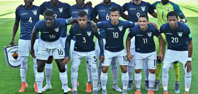 La selección nacional sub-20 se enfrenta a Estados Unidos en esta instancia. Foto: Tomada de @FEFecuador