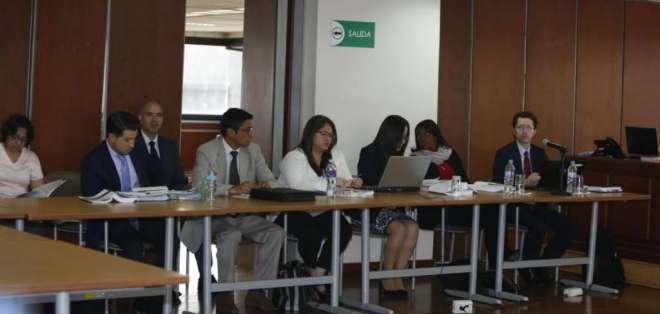 QUITO, Ecuador.- La audiencia de vinculación se desarrolló en la Sala de lo Penal de la Corte. Foto: API