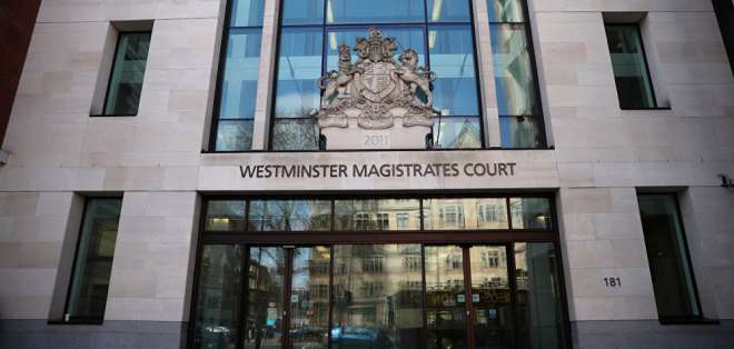 INGLATERRA.- La audiencia se llevará a cabo en el tribunal londinense de Westminster. Foto: Internet