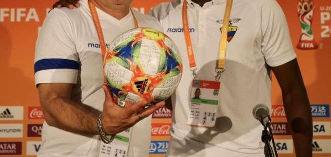El entrenador de la selección ecuatoriana sub-20 habló previo a la semifinal. Foto: Tomada de @FEFecuador