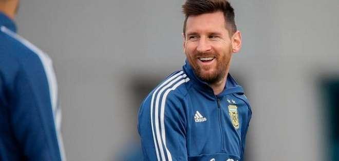 Messi con la selección argentina.