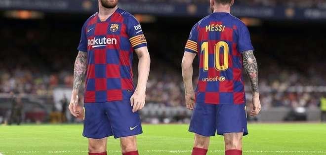 Messi en el PES 2020.