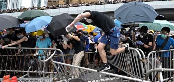 En China apenas se ha hablado de las masivas movilizaciones de Hong Kong. Foto: AFP