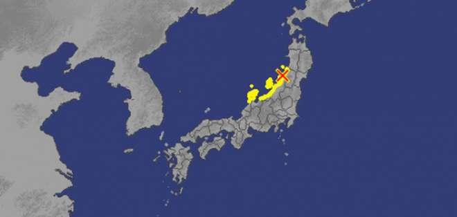 Alerta de tsunami tras sismo en el noroeste de Japón. Foto: Redes