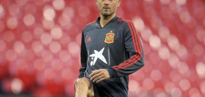 Luis Enrique, entrenador español.