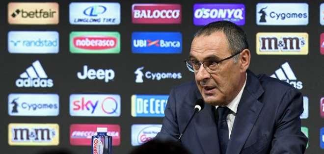 Maurizio Zarri, entrenador de la Juventus.