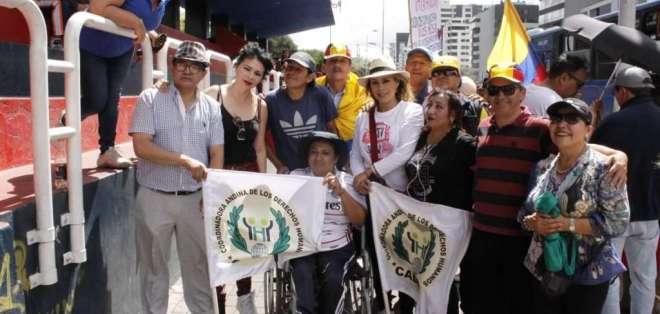 Marchas en Guayaquil y Quito contra el matrimonio igualitario. Foto: API