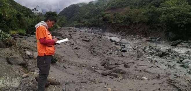 Lluvias en Baños y Patate continuarán en las próximas 72 horas. Foto: Obras Públicas -  Referencial