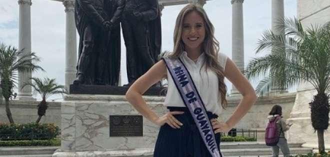 La joven fue elegida como reina de Guayaquil en septiembre del 2018.