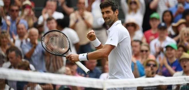 Djokovic en el partido de este lunes. Foto: Twitter Novak Djokovic.