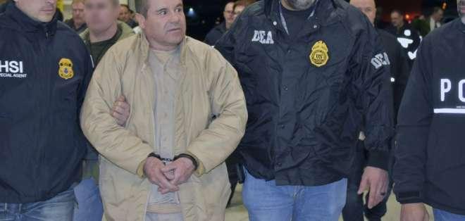 """NUEVA YORK, EEUU.- """"El Chapo"""" está detenido desde enero de 2017 en una cárcel de Manhattan. Foto: AFP"""