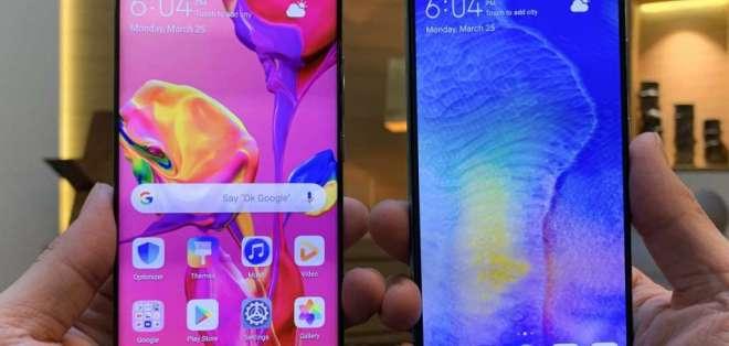 La última serie de teléfonos de la compañía incluye el Huawei P30 Pro (izquierda) y el P30.