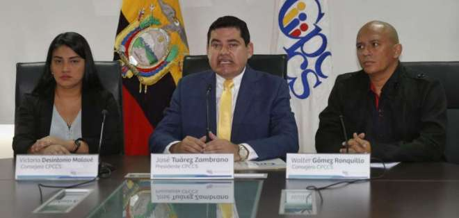 QUITO, Ecuador.- El presidente del CPCCS investiga una presunta denuncia contra Guillermo Lasso. Foto: API