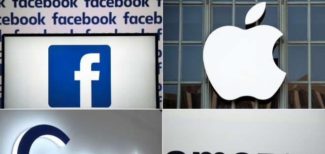 La tasa se denomina Gafa como un acrónimo para referirse a Google, Apple, Facebook y Amazon. Foto: AFP