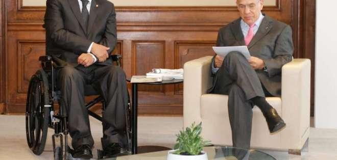Moreno se reunió con José Ángel Gurría, secretario General de este organismo. Foto: Presidencia