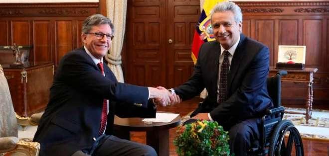 La reunión duró aproximadamente 30 minutos. Foto: Presidencia