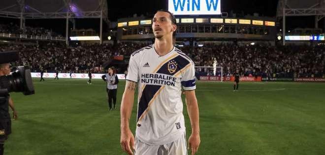 Zlatan Ibrahimovic, delantero sueco del LA Galaxy.