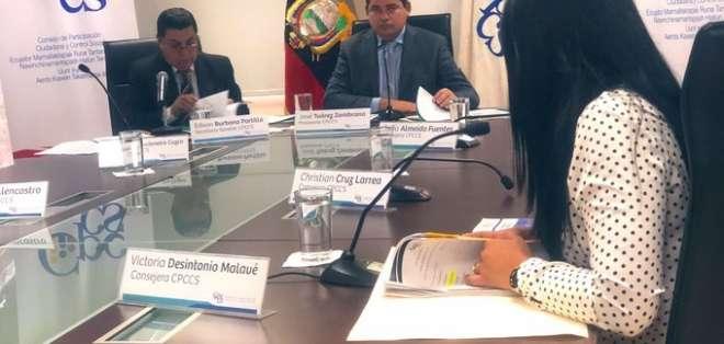 El pasado 19 de julio la Comisión de Fiscalización dio paso al proceso de juicio político al CPCCS. Foto: CPCCSS