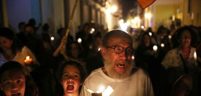 Filtración de chat entre funcionario y otras personas mantiene en protestas a la isla. Foto: AFP