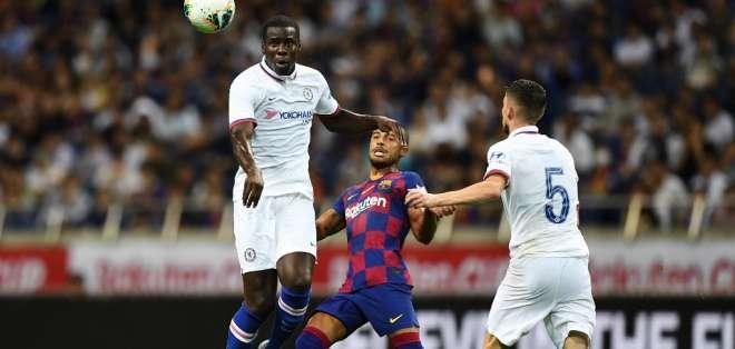 Este fue el primer duelo de pretemporada del conjunto español. Foto: CHARLY TRIBALLEAU / AFP