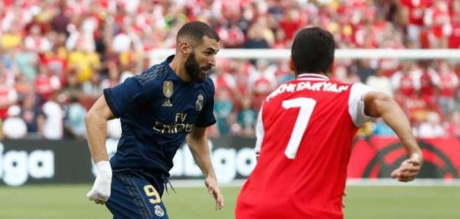 Partido amistoso del Madrid ante el Arsenal. Foto: Twitter Arsenal.