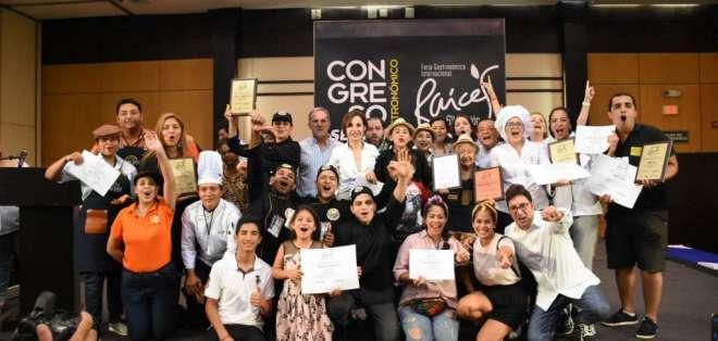 Bonloncity ganó la Estrella Culinaria de Oro en Raíces. Foto: Prensa Municipio de Guayaquil