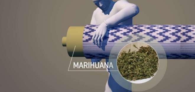 Los narcos usan a mujeres embarazadas para transportar la droga. Foto: Captura