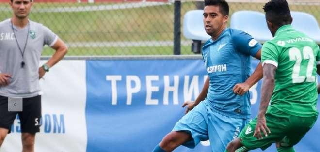Christian Noboa, jugador del Zenit.
