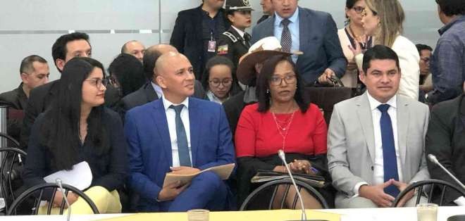 QUITO, Ecuador.- Comisión sugiere enjuiciar a José Tuárez, Rosa Chalá, Walter Gómez y Victoria Desintonio. Foto: Archivo