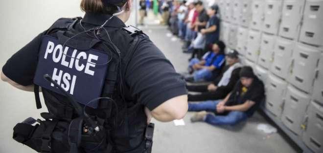 EE.UU.- El gobierno de México manifestó que hay 107 mexicanos entre los 680 detenidos. Foto: AFP