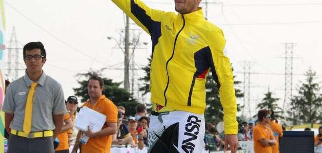 Alfredo Campo en el podio.