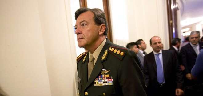 César Milani fue acusado de secuestro y tortura durante la última dictadura en Argentina. Foto: AP