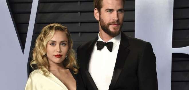 Miley Cyrus y Liam Hemsworth se separan. Foto: AP - Referencial