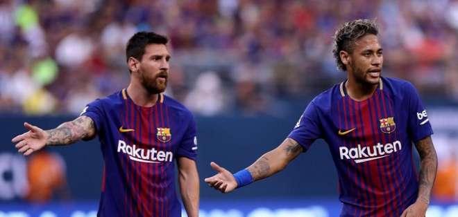 Messi y Neymar juntos en el FC Barcelona.