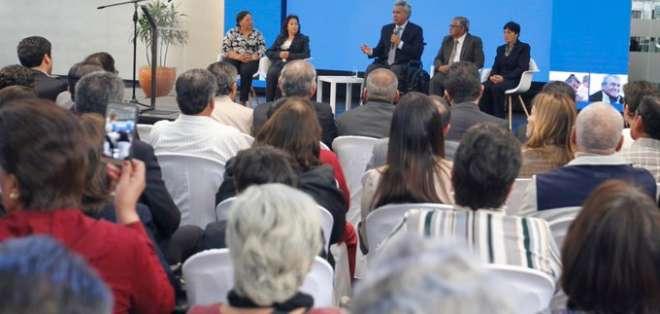 Moreno reiteró que la deuda con los adultos mayores ascendía a $1.200 millones. Foto: Secom